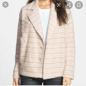 Elodie Ivory Pea Coat NWT